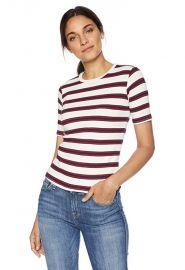 Velvet by Graham Spencer  Kay Stripe Knit Shirt at Amazon