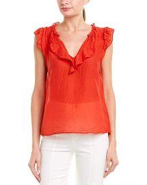 Velvet ruffled blouse at Amazon