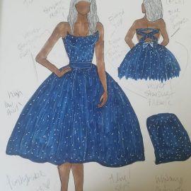 Velvet strapless dress at Punkybabe Designs
