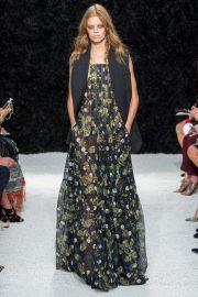 Vera Wang Floral Maxi Dress at Vogue