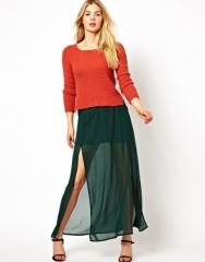 Vero Moda  Vero Moda Maxi Skirt at Asos