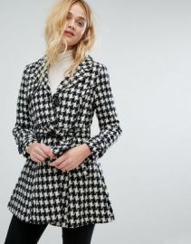 Vero Moda Houndstooth Belted Coat at asos com at Asos