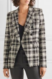 Veronica Beard - Miller Dickey double-breasted crystal-embellished checked tweed blazer at Net A Porter
