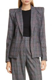 Veronica Beard Brock Glen Plaid Dickey Blazer   Nordstrom at Nordstrom