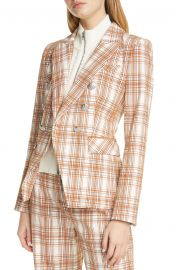 Veronica Beard Miller Plaid Cotton Blend Dickey Jacket   Nordstrom at Nordstrom