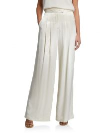 Veronica Beard Noel Pleated Wide-Leg Pants at Neiman Marcus