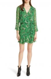 Veronica Beard Sean Floral Print Silk Minidress   Nordstrom at Nordstrom