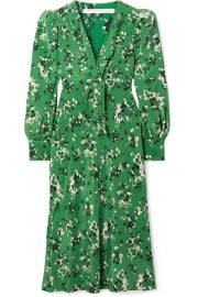 Veronica Beard - Amber floral-print silk-blend midi dress at Net A Porter
