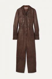 Veronica Beard - Artemis leather jumpsuit at Net A Porter