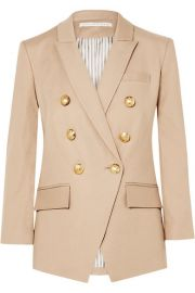 Veronica Beard - Empire Dickey double-breasted linen-blend twill blazer at Net A Porter