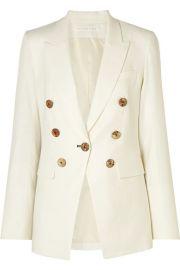 Veronica Beard - Gaya Dickey linen-blend blazer at Net A Porter
