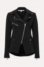 Veronica Beard - Hadley stretch-crepe biker jacket at Net A Porter