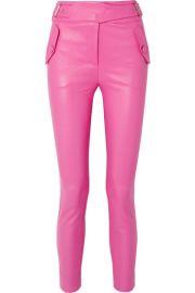 Veronica Beard - Jania leather skinny pants at Net A Porter