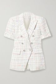Veronica Beard - Jenny Dickey double-breasted tweed blazer at Net A Porter