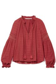 Veronica Beard - Kalina lace-trimmed cotton blouse at Net A Porter