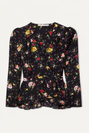 Veronica Beard - Kiona floral-print silk-georgette wrap blouse at Net A Porter