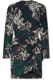 Veronica Beard - Louella ruffled animal-print stretch-silk crepe de chine mini dress at Net A Porter