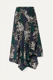 Veronica Beard - Mac asymmetric animal-print stretch-silk crepe de chine midi skirt at Net A Porter