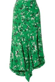 Veronica Beard - Mac asymmetric floral-print silk-blend midi skirt at Net A Porter