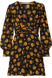 Veronica Beard   Marion floral-print silk crepe de chine mini dress at Net A Porter