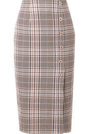 Veronica Beard - Melor checked cotton-blend midi skirt at Net A Porter