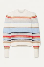Veronica Beard - Meredith striped knitted sweater at Net A Porter