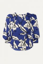 Veronica Beard - Milan printed silk-satin jacquard blouse at Net A Porter