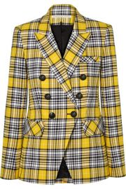 Veronica Beard - Miller Dickey checked cotton-blend blazer at Net A Porter