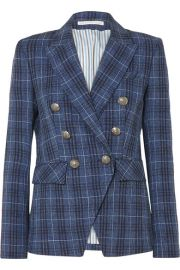 Veronica Beard - Miller Dickey checked wool-blend blazer at Net A Porter