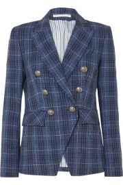 Veronica Beard - Miller Dickey checked wool-blend blazer at Net A Porter