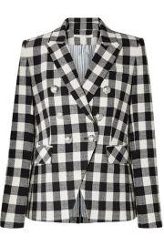 Veronica Beard - Miller Dickey gingham linen-blend blazer at Net A Porter