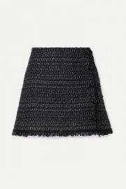 Veronica Beard - Mirabella button-embellished metallic tweed mini skirt at Net A Porter