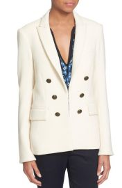 Veronica Beard  Peninsula  Faux Double Breasted Blazer in Ecru at Nordstrom