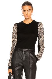 Veronica Beard Adler Mixed Media Sweater in Black Multi   FWRD at Forward
