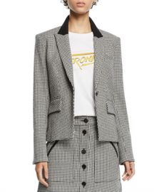 Veronica Beard Airlie Houndstooth Peplum Dickey Jacket at Neiman Marcus