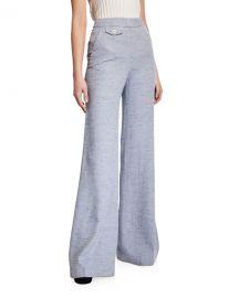 Veronica Beard Antonio High-Rise Wide-Leg Pants at Neiman Marcus