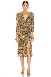Veronica Beard Arielle Dress in Leopard   FWRD at Forward
