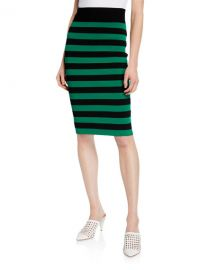 Veronica Beard Baker Striped Pencil Skirt at Neiman Marcus