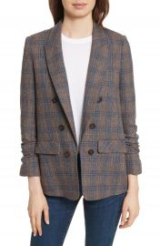 Veronica Beard Beacon Plaid Faux Double Breasted Blazer at Nordstrom