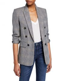 Veronica Beard Bexley Fuller Check Single-Button Dickey Jacket at Neiman Marcus