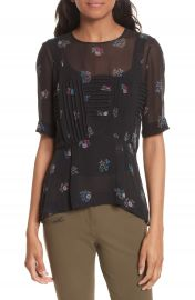 Veronica Beard Braden Print Silk Top at Nordstrom