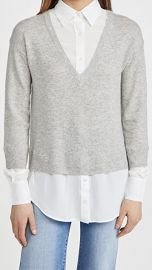 Veronica Beard Brami Mixed Media Sweater at Shopbop