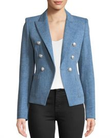 Veronica Beard Caden Double-Breasted Dickey Jacket at Neiman Marcus