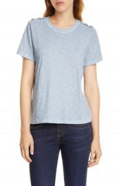 Veronica Beard Carla Button Shoulder Tee   Nordstrom at Nordstrom