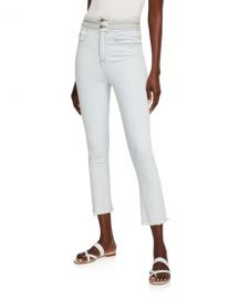 Veronica Beard Carly Braided Kick Flare Jeans at Neiman Marcus
