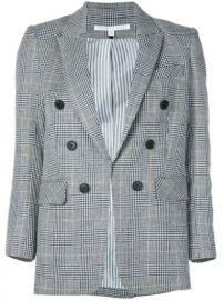 Veronica Beard Checked Print Blazer - Farfetch at Farfetch