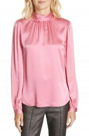 Veronica Beard Chilton Bow Back Silk Blouse at Nordstrom