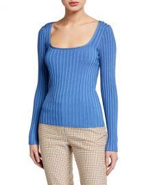 Veronica Beard Clara Scoop-Neck Sweater at Neiman Marcus