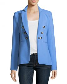 Veronica Beard Colson Peak-Lapel Double-Breasted Jacket   Neiman at Neiman Marcus