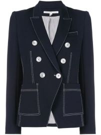 Veronica Beard Contrast Stitching Blazer - Farfetch at Farfetch